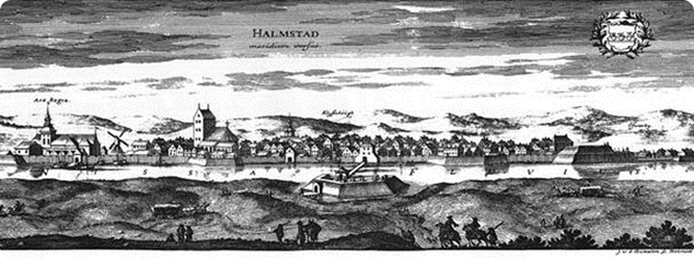 City of Halmstad in the late 17th century